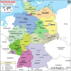 Maps of the various religious in Germany: Protestants, Catholic, Non ...