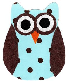 Iron on fabric owl applique DIY by patternoldies on Etsy