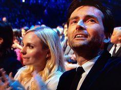 David and Georgia Tennant at the National Television Awards