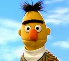 Bert is the only man on the planet given a pass to wear a unibrow Miss Piggi, Bert Sesame Street, Marine Corps Humor, Bert & Ernie, Fraggle Rock, The Muppet Show, Im Weak, My Marine, Funky Outfits