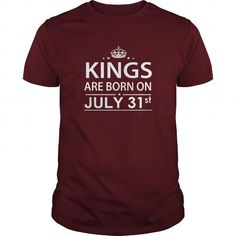 Awesome Tee Birthday July 31  kings are born in TShirt Hoodie Shirt VNeck Shirt Sweat Shirt for womens and Men ,birthday, queens Birthday July 31 I LOVE MY HUSBAND ,WIFE T-Shirts