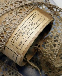 Antique Cluny Lace Trim | brown | beige
