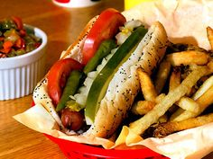 Awesome Chicago Style Hot Dogs... Mustard's Last Stand! Boulder CO