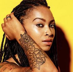 Faux Locs Simisola Lana  C B Black Girl Tattoos