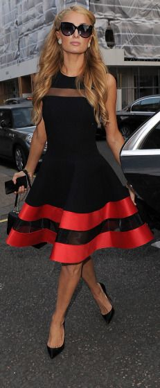 Paris Hilton in London. Great dress!!