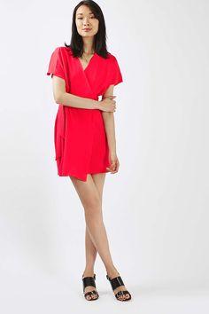 PETITE Wrap Mini Dress - Topshop