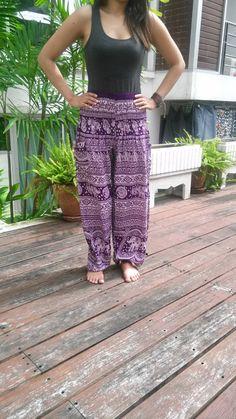 Hey, I found this really awesome Etsy listing at https://www.etsy.com/listing/199258346/yoga-pants-purple-elephant-harem-boho
