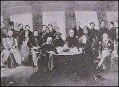 The Treaty of Nanking, widely considered to be one of the first unequal treaties. http://nanking.com/