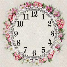 Sweet floral clock