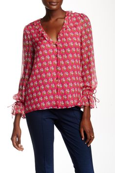Kirsty Print Silk Blouse by Diane von Furstenberg on @nordstrom_rack
