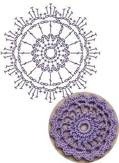 No.5 Ripple-edged Medallion Lace Crochet Motifs / 리플 엣지 모티브도안