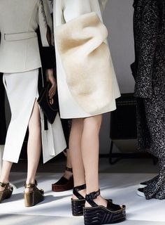 Backstage at CÉLINE Fall/Winter 2014