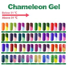 Eleacc Pick Any 3 Colors Temperature Changing Colour Nail Lacquers Soak Off Uv LED Gel Polish Gelpolish 7.3ml (Any 3 Colors) >>> Click image for more details.