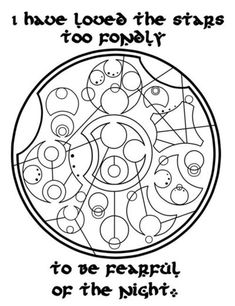 Would love to hang this on the wall. Quote written in circular Gallifrean, from the Doctor Who series Would love to hang this on the wall. Quote written in circular Gallifrean, from the Doctor Who series Tattoo Heaven, Circular Gallifreyan, Geek Out, Superwholock, Tardis, Nerdy, Fangirl, Geek Stuff, Harry Potter