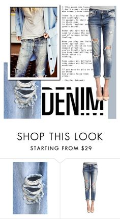 """""""Denim"""" by hellodollface ❤ liked on Polyvore featuring Mavi, women's clothing, women, female, woman, misses, juniors and distresseddenim"""