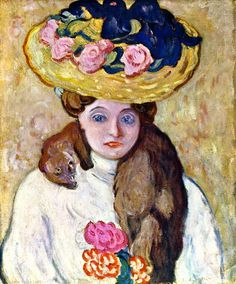 Young Woman with Flowered Hat / Louis Valtat - 1905