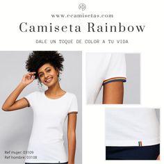 Camisetas arcoiris. Camisetas rainbow. Camisetas manga corta. Camiseta hombre. Camiseta mujer. Camisetas personalizadas. Camisetas lgtb. Camisetas baratas. Camisetas baratas arcoiris. Ropa personalizada. Ropa promocional. Lgtb Textiles, T Shirt, Tops, Women, Fashion, Cheap Dress Shirts, Promotional Giveaways, Pop Of Color, Custom T Shirts