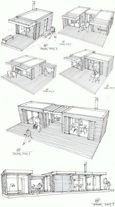 Container Architecture, Architecture Design, Farmhouse Architecture, Module Architecture, Architecture Drawing Plan, Sustainable Architecture, Container Home Designs, Rustic Cottage, Cottage Style