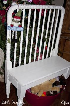 Repurposed Crib Bench, Crib, Upcycled
