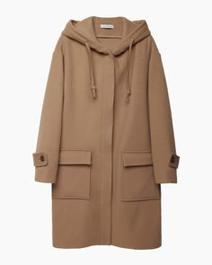 $1,595, Camel Duffle Coat: J.W.Anderson Jw Anderson Duffle Coat. Sold by La Garçonne. Click for more info: https://lookastic.com/women/shop_items/92019/redirect