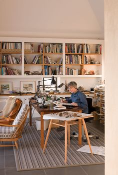 Simon and Angie Lewin's home/studio in the Scottish Highlands. Photographed by Cristian Barnett for April 2015's issue of Country Living http://www.stjudesfabrics.co.uk/blogs/news/17302597-country-living