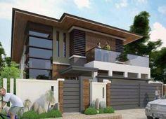 Modern Zen House, Best Modern House Design, Modern House Facades, Minimalist House Design, Modern Architecture House, House Outside Design, House Gate Design, Village House Design, House Front Design