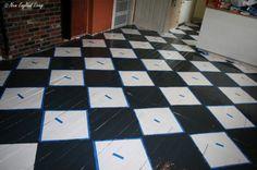 checkered floor taped blackfloor
