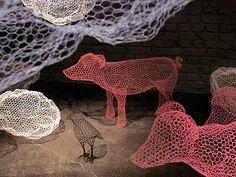Esculturas de malla de gallinero de Benedetta Mori Ubaldini - serendipia