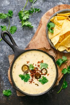 Queso Blanco Cheese Dip with Spicy Chorizo