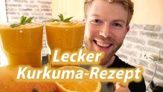 Mango-Smoothie mit Kurkuma - Rezept von Yasty Chef Cantaloupe, Pudding, Fruit, Drinks, Shake, Smoothies, Desserts, Chef, Food