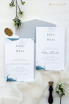 Zara Watercolour Save the Date Cards, Printable Save the Date Cards or Printed, Modern and Elegant Stationery for your Special Occasion