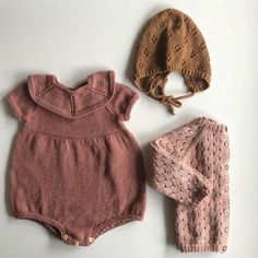 Gorgeous Blush Knit Romper, Sweater and Bonnet for kids Baby Outfits, Newborn Outfits, Kids Outfits, Baby Knitting Patterns, Knitting For Kids, Knitted Baby Clothes, Knitted Romper, Style Baby, Cute Baby Shoes