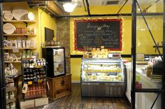 """Our friends cheese shop, """"Lucy's Whey"""" located at Chelsea Market, Brooklyn NY."""