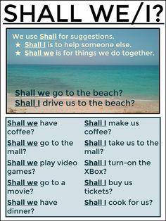 #tesol #tefl #grammar #learnenglish #esl #elt AskPaulEnglish: SHALL I/WE?                                                                                                                                                                                 Mais
