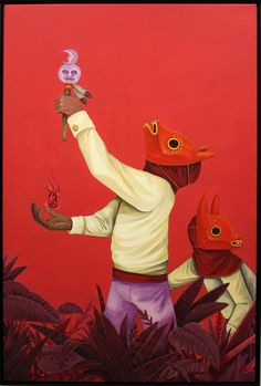 """La Ofrenda"", 2018 de SANER - Courtesy GALERIE ITINERRANCE © Photo Éric Simon Illustration Styles, Illustrations, Latin Artists, Arte Popular, Mexican Art, Art Inspo, Tigger, Graffiti, Disney Characters"
