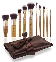 Makeup Brush Set - 10 Pcs Complete Studio Pro Brushes with Bamboo Handle and Synthetic Hair - Compact Travel Size with Pouch Holder Organizer- Affordable Vegan Animal Friendly Kit - Best for Professional Looking Eye and Face Cosmetics Application Missamé http://www.amazon.com/dp/B00H2YL8W6/ref=cm_sw_r_pi_dp_M5DTub1AZ5BY2