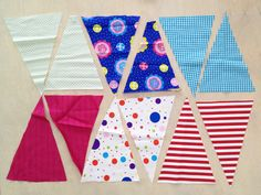 Wimpelzuschnitt, cut out bunting