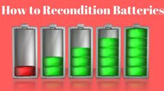 How To Recondition Old Batteries by All Preppers United  https://www.youtube.com/watch?v=3wxkz1JuYSE #howtoreconditionbatteries #howtoreconditionoldcarbatteries