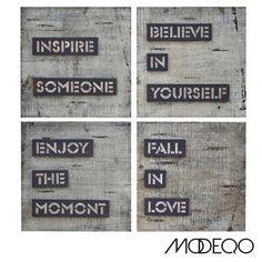 Wall Decor for your home. Inspire Someone Believe in yourself Enjoy the moment Fall in love #wallart #walldecor #framedart   #homedecor #homefurnishings #decor   #modeqo