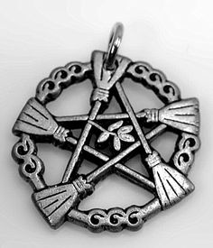The brooms of elder Goddess Pendant wicca Pagan pendant charm Sterling silver 925 Jewelry  find this item at https://www.etsy.com/shop/princeofdiamonds