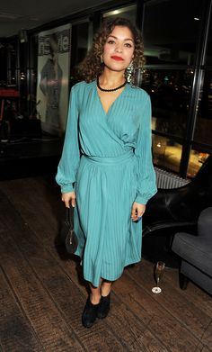 Antonia Thomas and Nathan Stewart-Jarrett at an InStyle Event in London Antonia Thomas, Black Sails, Dress Up, Shirt Dress, Woman Face, Pretty People, Celebs, Celebrities, Actors & Actresses