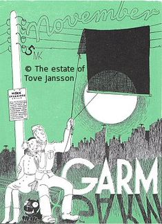 Tove Jansson GARM magazine cover Tolkien, Tove Jansson, Comic, Magazine, Movie Posters, Graphics, Illustrations, Google Search, Summer Books