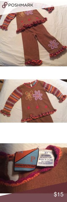 Nicknackpattywack Two Piece Outfit Size 3T two piece outfit. Nicknackpattywack Matching Sets