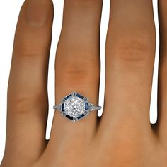Very pretty! Color and diamonds, blue, jewels, jewelry, bling