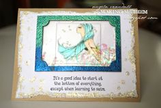 Globecraft & Piccolo BLOG | Tutorial on using Piccolo Enamel Powders to make a simple ombre frame