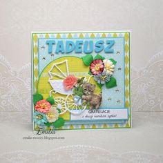 Emilia tworzy: Kartka gratulacje z okazji narodzin dziecka/Card for newborn baby