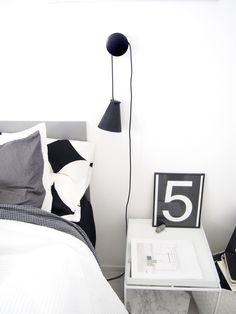 Muuto Dots with Menu Bollard in bedroom