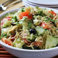 """Greek Orzo Salad 