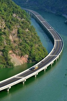 Fear of driving or riding by water on bridges.