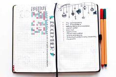 bullet journal december, gratitude log, december tracker bullet journal, meer bereiken met dankbaarheid, succes, zentangle bullet journal